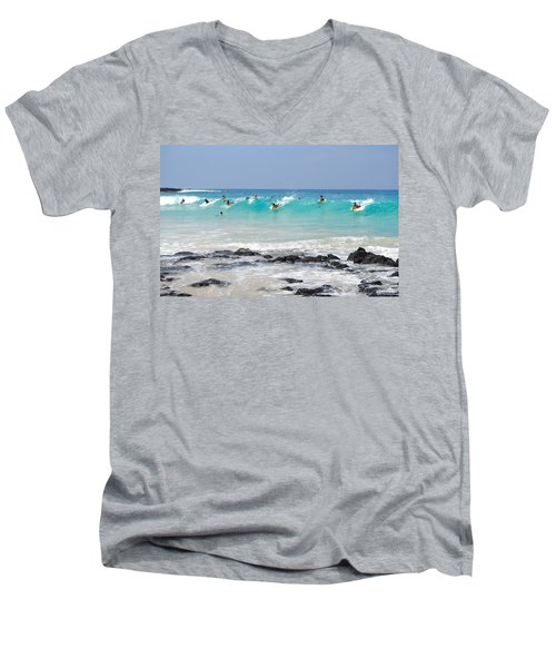 Boogie Up Men's V-Neck T-Shirt by Denise Bird