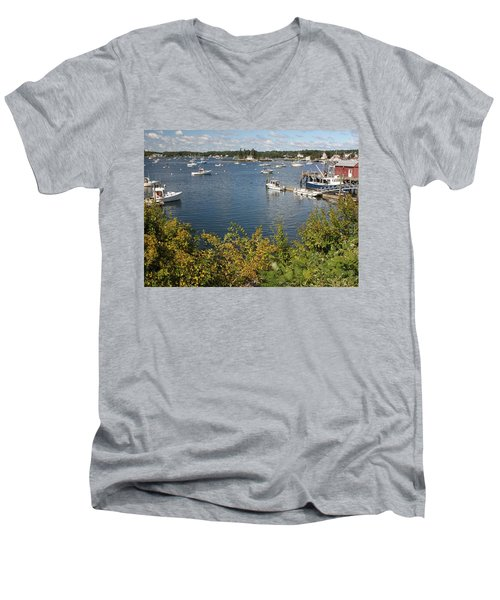 Boothbay Harbor Vista Men's V-Neck T-Shirt