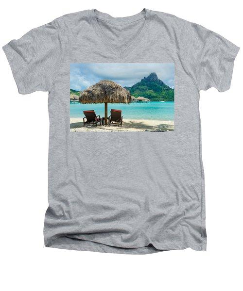 Bora Bora Beach Men's V-Neck T-Shirt