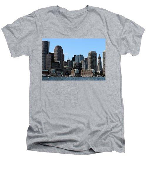 Boston Harbor Men's V-Neck T-Shirt