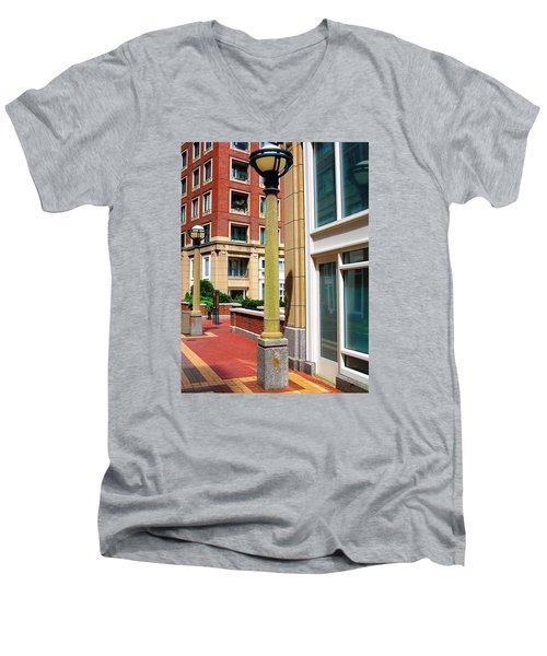 Boston Interior Men's V-Neck T-Shirt by Oleg Zavarzin