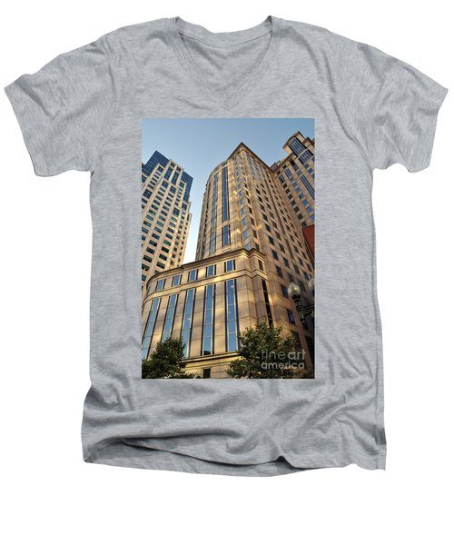 Boston Skyscrapers Men's V-Neck T-Shirt