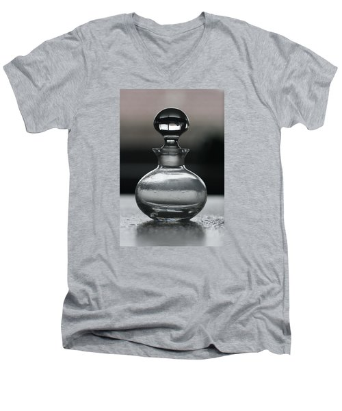 Men's V-Neck T-Shirt featuring the photograph Bottle by Joy Watson
