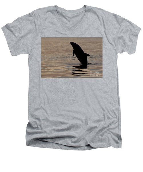 Bottlenose Dolphin Men's V-Neck T-Shirt