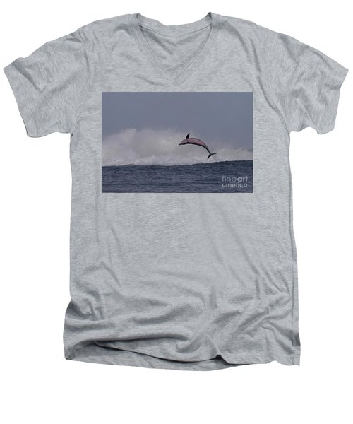 Bottlenose Dolphin Photo Men's V-Neck T-Shirt