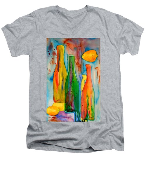 Bottles And Lemons Men's V-Neck T-Shirt