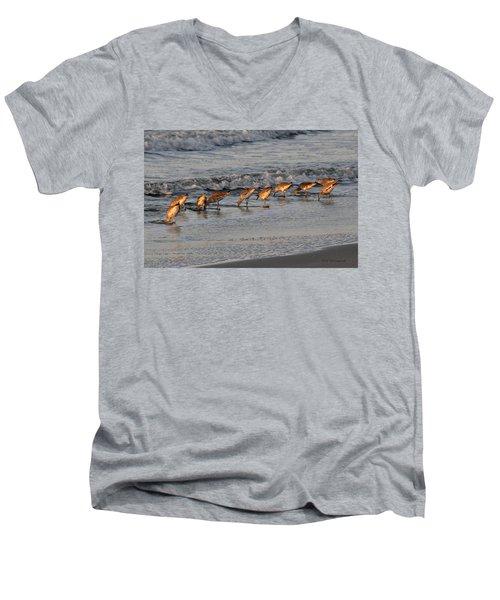 Bottoms Up Men's V-Neck T-Shirt by Kay Lovingood