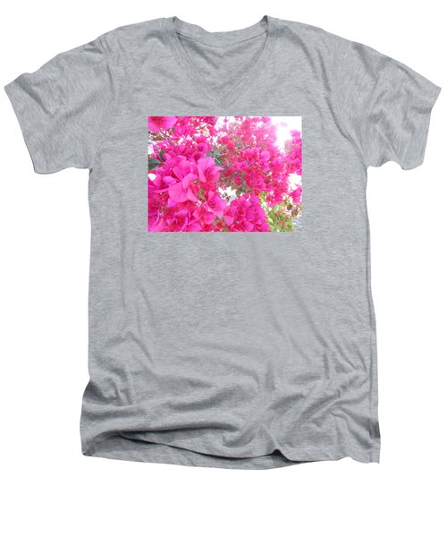 Men's V-Neck T-Shirt featuring the photograph Bougainvillea by Kay Gilley