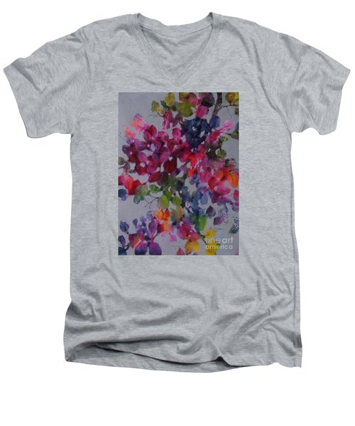 Bougainvillea Men's V-Neck T-Shirt by Michelle Abrams
