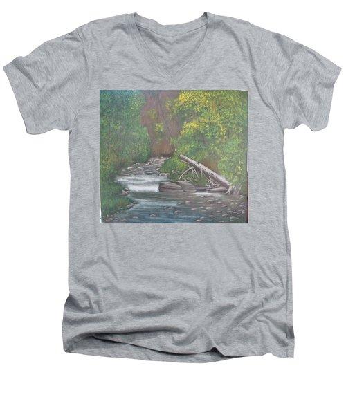Boundary Creek  Bc Men's V-Neck T-Shirt
