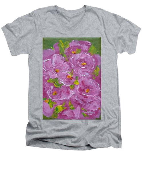 Bouquet Men's V-Neck T-Shirt by Judith Rhue