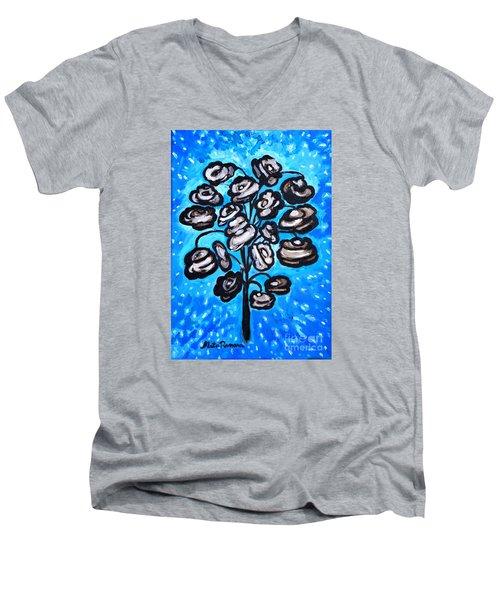 Bouquet Of White Poppies Men's V-Neck T-Shirt