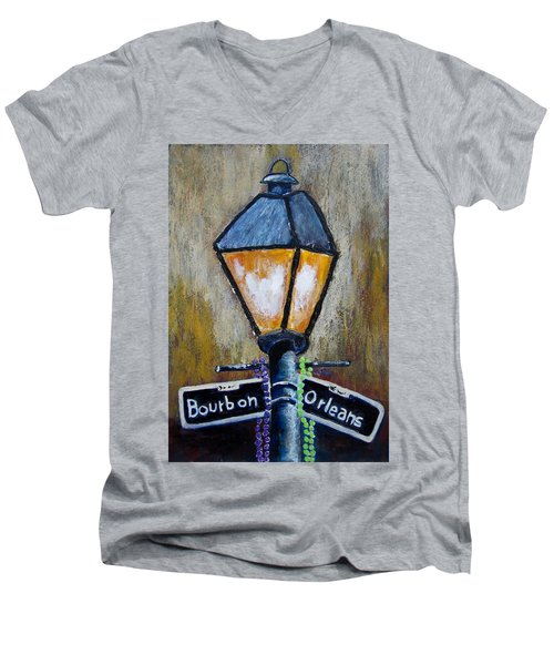 Bourbon Light Men's V-Neck T-Shirt
