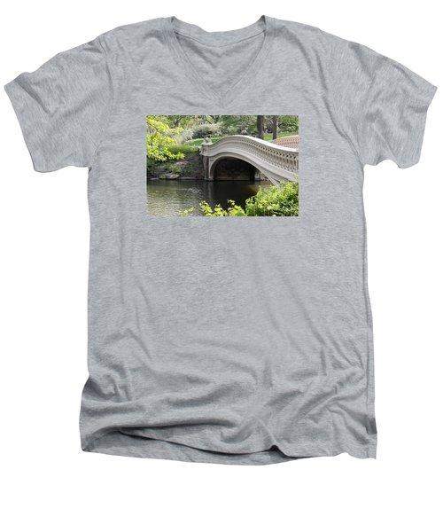 Bow Bridge Iv Men's V-Neck T-Shirt by Christiane Schulze Art And Photography