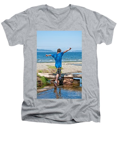 Boyhood Fun Art Prints Men's V-Neck T-Shirt