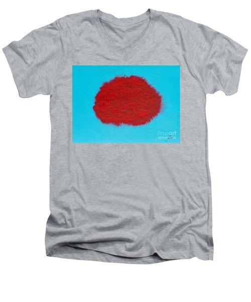 Brain Red Men's V-Neck T-Shirt by Stefanie Forck