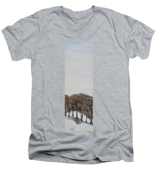 Men's V-Neck T-Shirt featuring the painting Branch Broken by Marilyn  McNish