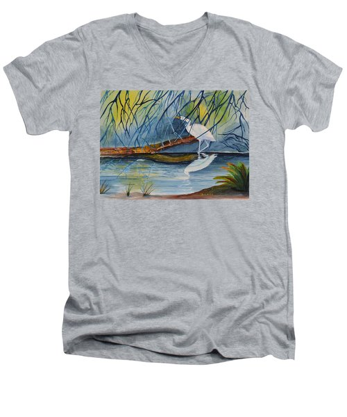 Branching Off Men's V-Neck T-Shirt