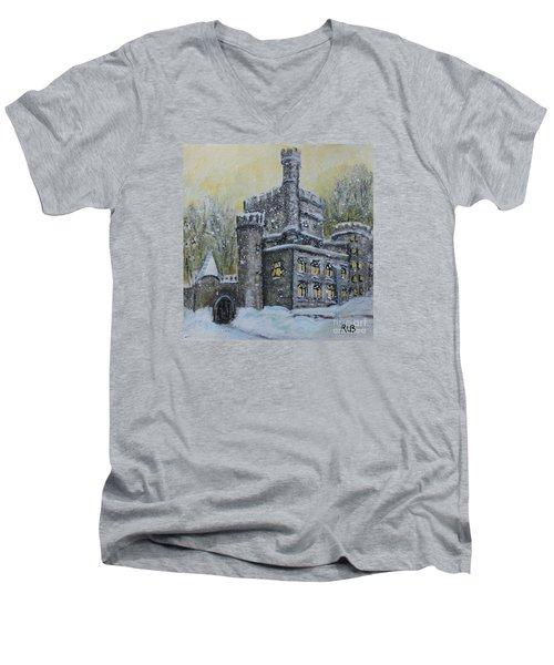 Brandeis University Castle Men's V-Neck T-Shirt