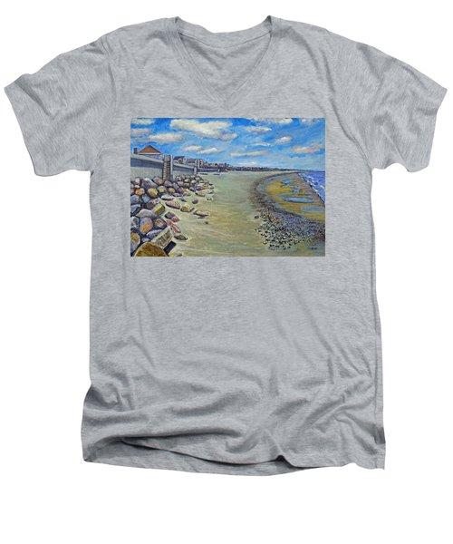 Brant Rock Beach Men's V-Neck T-Shirt