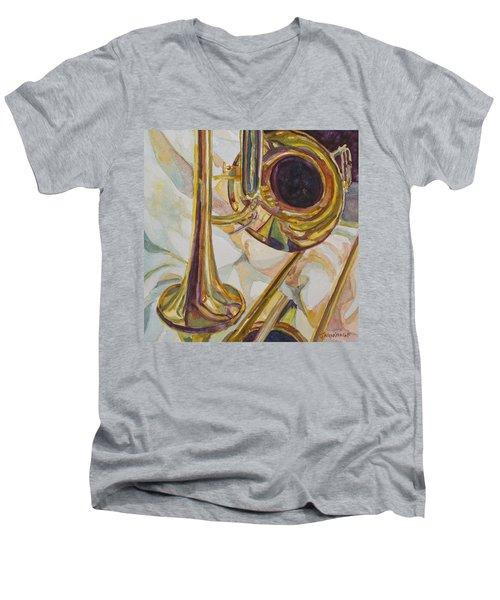 Brass At Rest Men's V-Neck T-Shirt