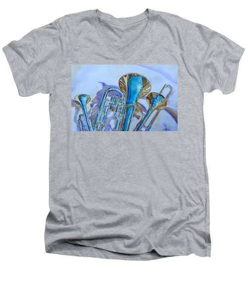Brass Candy Trio Men's V-Neck T-Shirt by Jenny Armitage