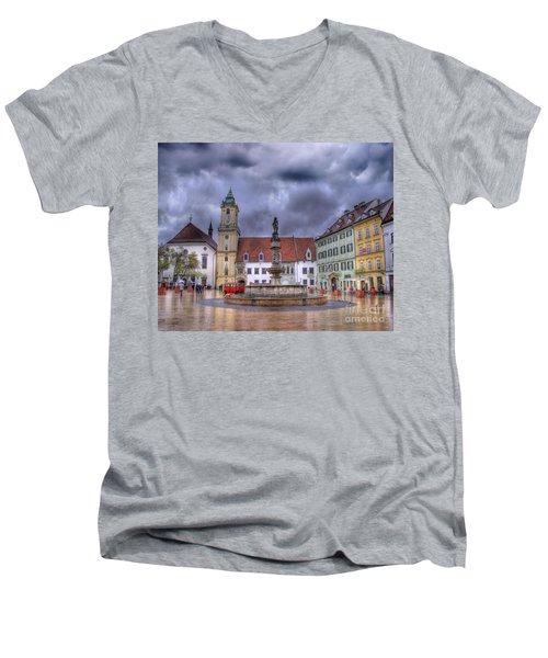 Bratislava Old Town Hall Men's V-Neck T-Shirt