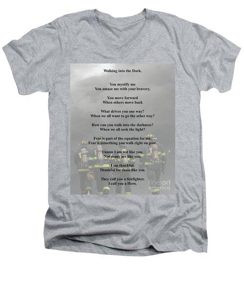Brave Poem Men's V-Neck T-Shirt
