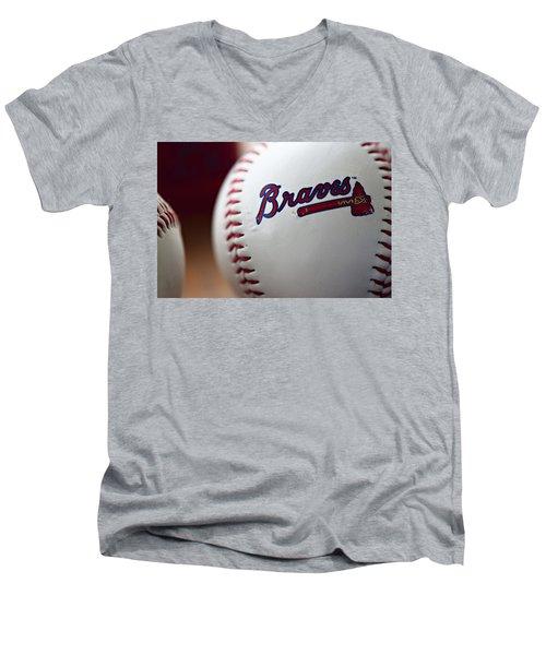 Braves Baseball Men's V-Neck T-Shirt