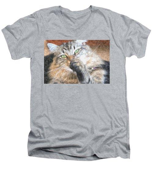 Brazen Men's V-Neck T-Shirt by Shari Nees