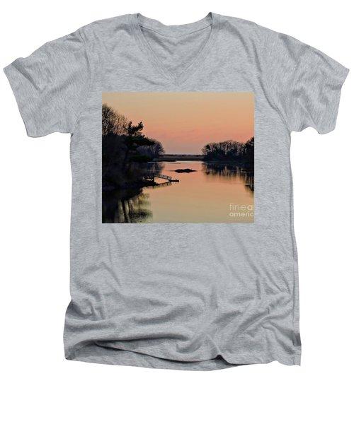 Breaking Dawn Men's V-Neck T-Shirt by Marcia Lee Jones