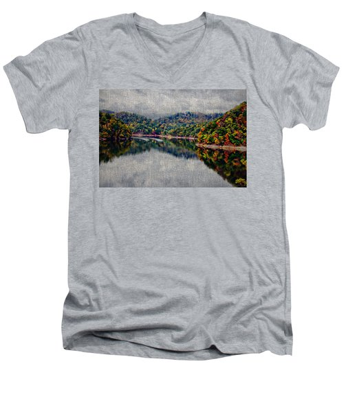Breaking The Mirrow Men's V-Neck T-Shirt by Tom Culver