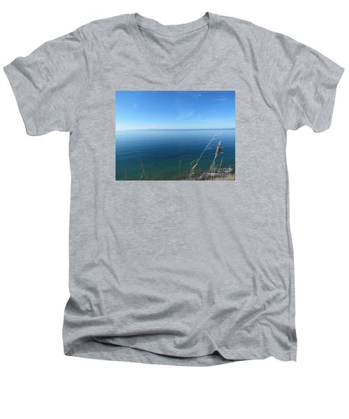 Breeze In Blue Men's V-Neck T-Shirt