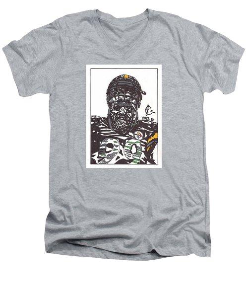 Brett Keisel 2 Men's V-Neck T-Shirt by Jeremiah Colley