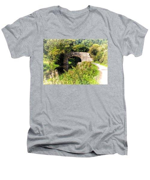 Bridge Over Still Waters Men's V-Neck T-Shirt