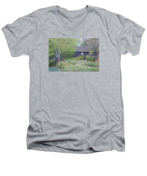 Bridge To Harmony Men's V-Neck T-Shirt by Debra     Vatalaro