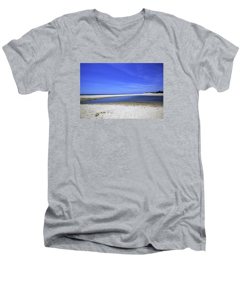 Bridgehampton Sky Men's V-Neck T-Shirt by Madeline Ellis