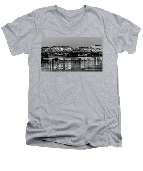 Trenton Makes Bridge Men's V-Neck T-Shirt