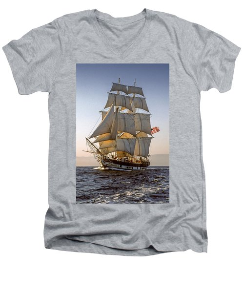 Brig Pilgrim Off Santa Barbara Men's V-Neck T-Shirt