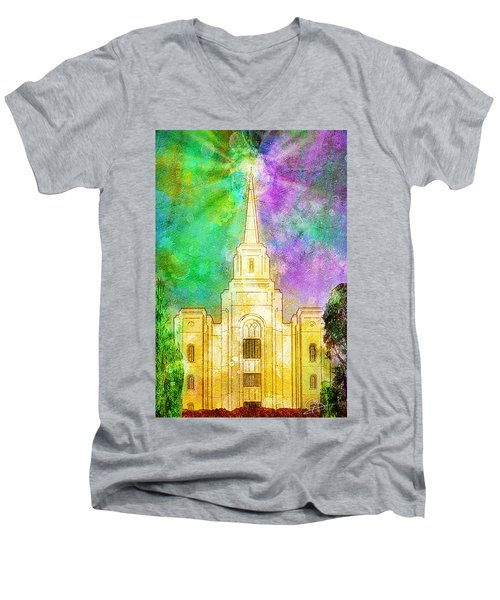 The Heavens Were Opened Men's V-Neck T-Shirt by Greg Collins