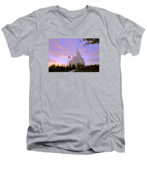 Brigham City Temple I Men's V-Neck T-Shirt