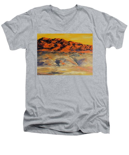 Brilliant Montana Mountains And Foothills Men's V-Neck T-Shirt