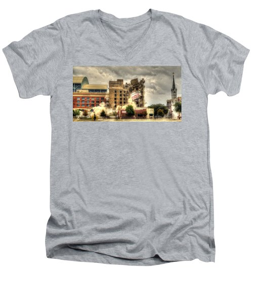 Bringing Down The House Men's V-Neck T-Shirt