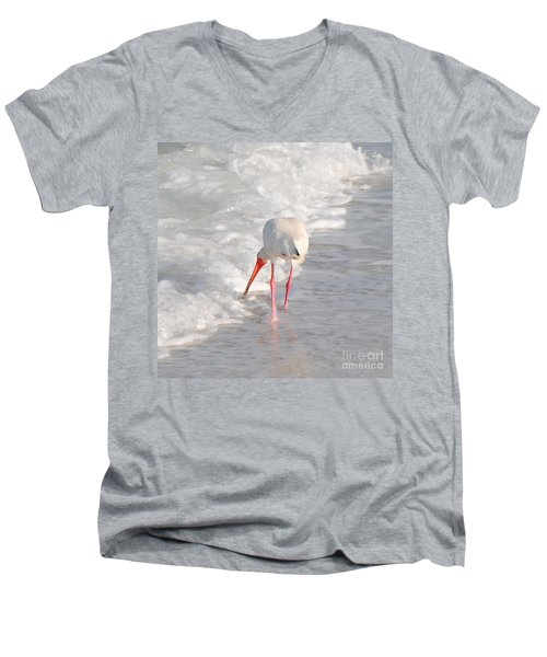 Men's V-Neck T-Shirt featuring the photograph Bringing Up The Rear by Margie Amberge