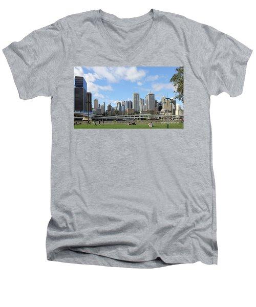 Brisbane City Men's V-Neck T-Shirt