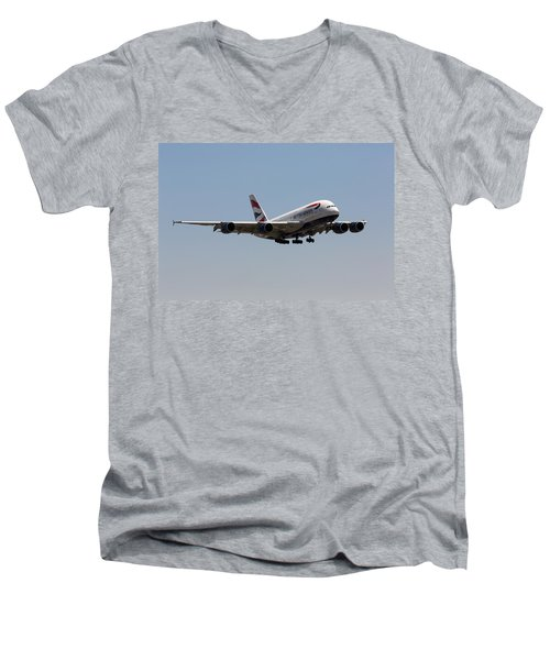 British Airways A380 Men's V-Neck T-Shirt