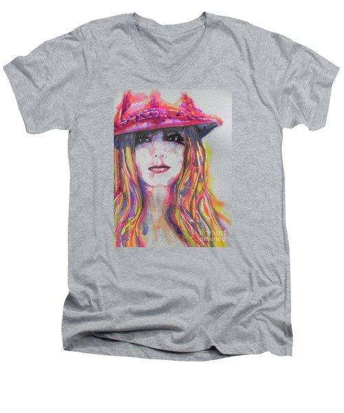 Britney Spears Men's V-Neck T-Shirt by Chrisann Ellis