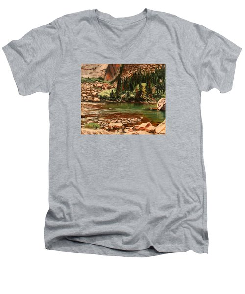 Broadwater Pond Men's V-Neck T-Shirt