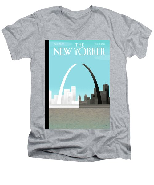 Broken Arch. A Scene From St. Louis Men's V-Neck T-Shirt