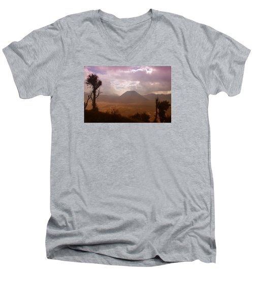 Bromo Men's V-Neck T-Shirt by Miguel Winterpacht